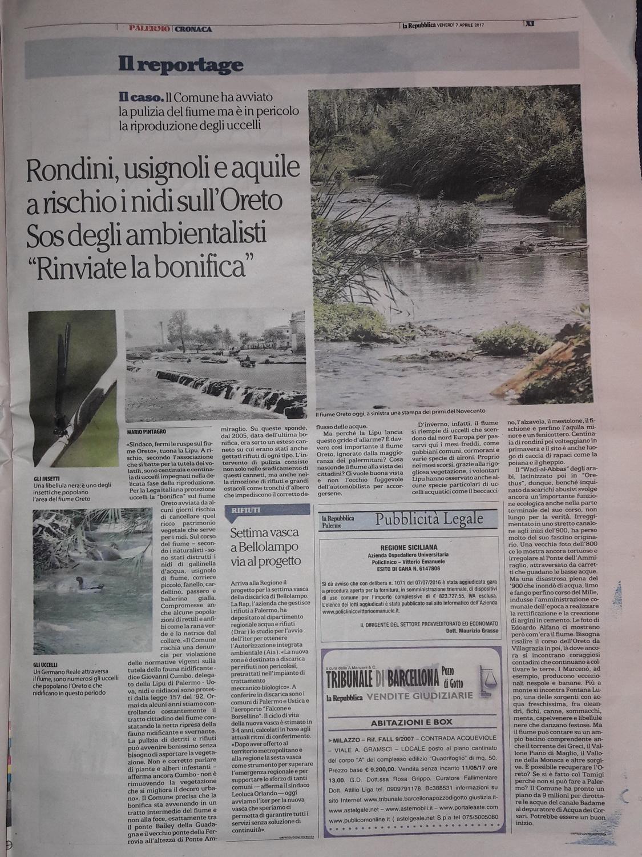 Oreto - La Repubblica 7 aprile 2017--